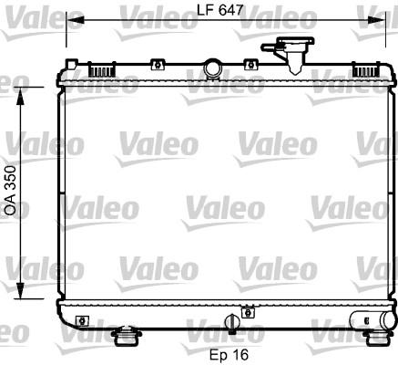 Radiateur, refroidissement du moteur - VALEO - 735078