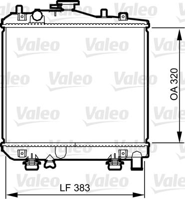 Radiateur, refroidissement du moteur - VALEO - 735079