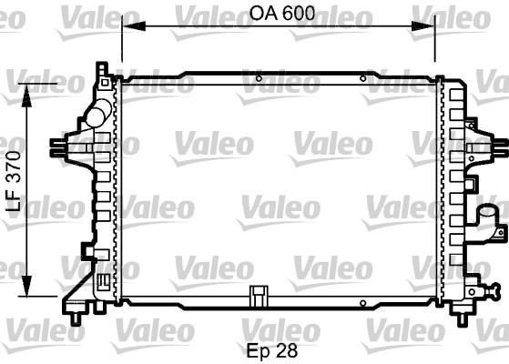 Radiateur, refroidissement du moteur - VALEO - 735080