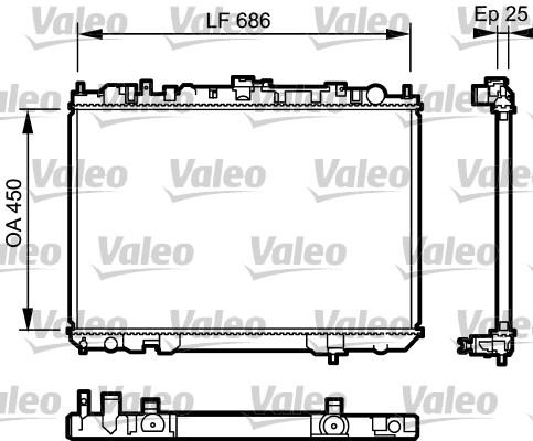 Radiateur, refroidissement du moteur - VALEO - 735081