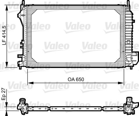 Radiateur, refroidissement du moteur - VALEO - 735083