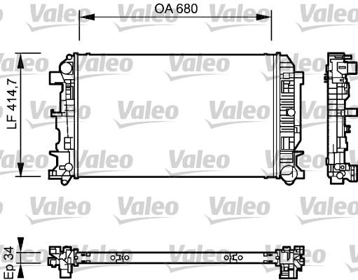 Radiateur, refroidissement du moteur - VALEO - 735084