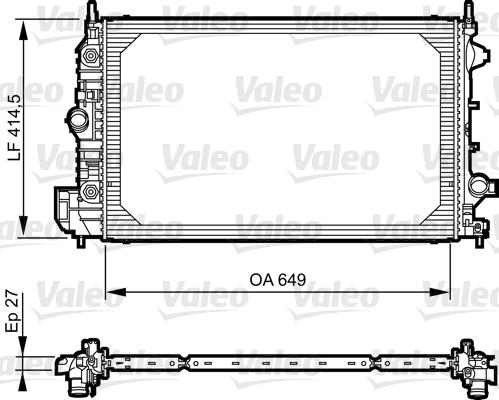 Radiateur, refroidissement du moteur - VALEO - 735086