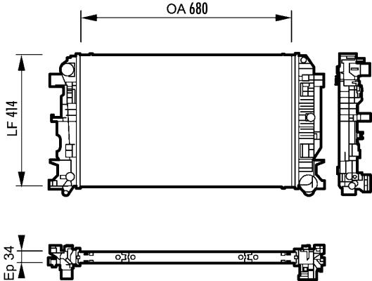 Radiateur, refroidissement du moteur - VALEO - 735088