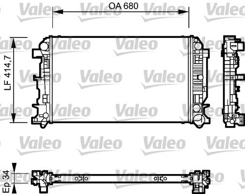Radiateur, refroidissement du moteur - VALEO - 735089