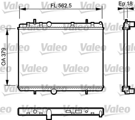 Radiateur, refroidissement du moteur - VALEO - 735091