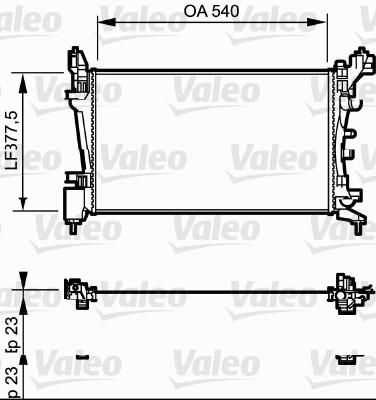 Radiateur, refroidissement du moteur - VALEO - 735097