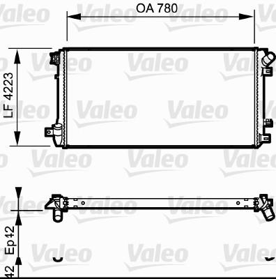 Radiateur, refroidissement du moteur - VALEO - 735112