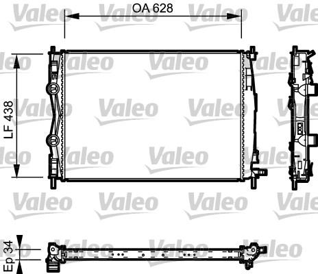 Radiateur, refroidissement du moteur - VALEO - 735115
