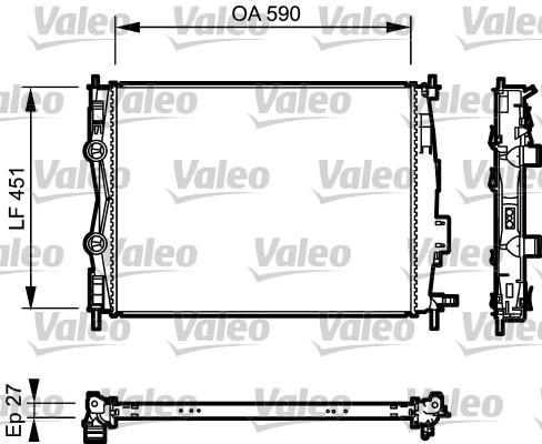 Radiateur, refroidissement du moteur - VALEO - 735116