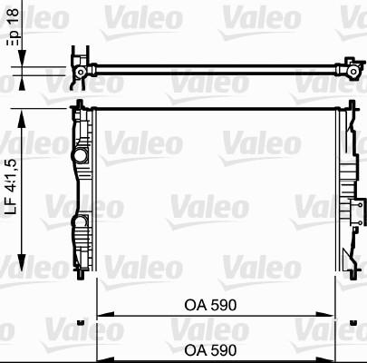 Radiateur, refroidissement du moteur - VALEO - 735118