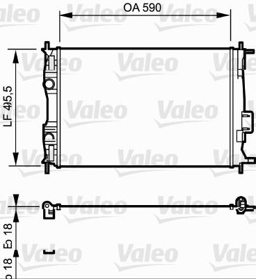 Radiateur, refroidissement du moteur - VALEO - 735119