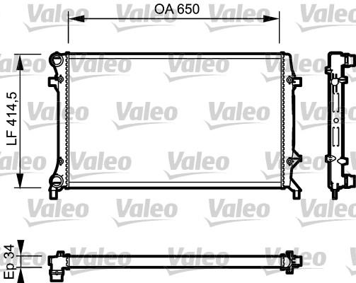 Radiateur, refroidissement du moteur - VALEO - 735120