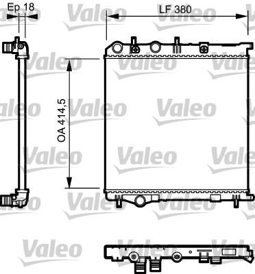 Radiateur, refroidissement du moteur - VALEO - 735125