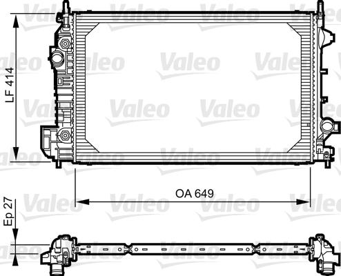 Radiateur, refroidissement du moteur - VALEO - 735130