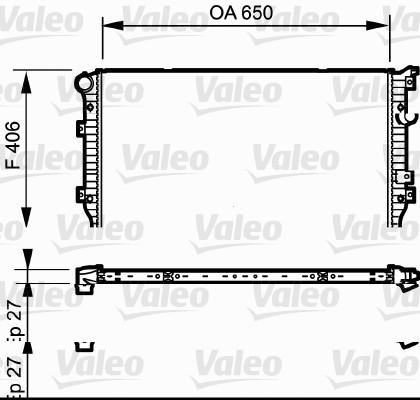 Radiateur, refroidissement du moteur - VALEO - 735133