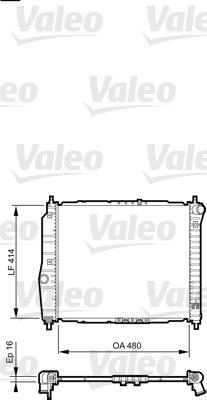 Radiateur, refroidissement du moteur - VALEO - 735157