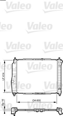 Radiateur, refroidissement du moteur - VALEO - 735158