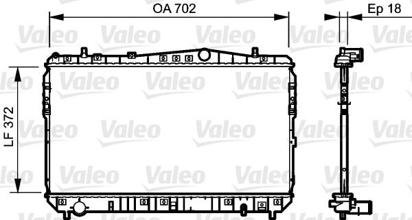 Radiateur, refroidissement du moteur - VALEO - 735159