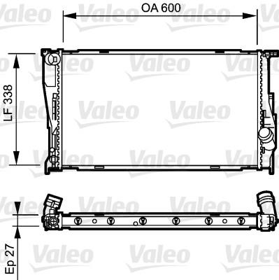 Radiateur, refroidissement du moteur - VALEO - 735165