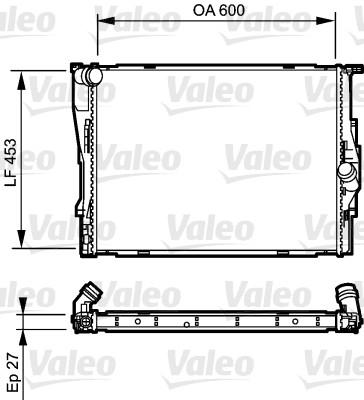 Radiateur, refroidissement du moteur - VALEO - 735166