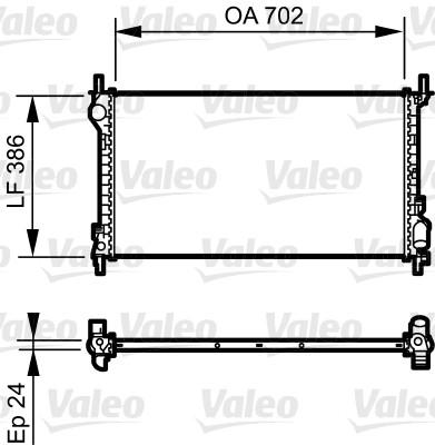 Radiateur, refroidissement du moteur - VALEO - 735167