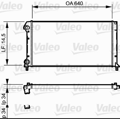Radiateur, refroidissement du moteur - VALEO - 735171