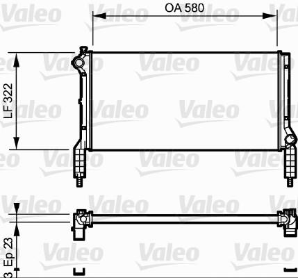 Radiateur, refroidissement du moteur - VALEO - 735172