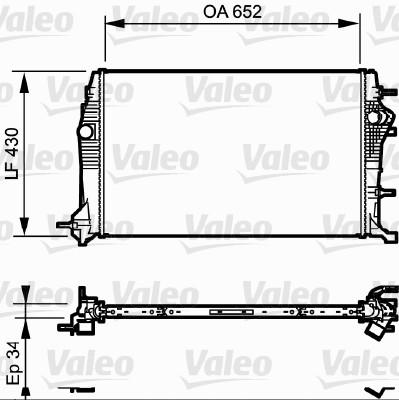 Radiateur, refroidissement du moteur - VALEO - 735181