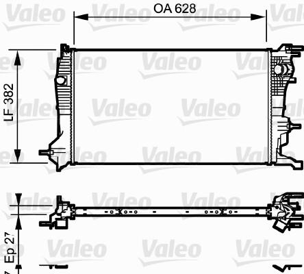 Radiateur, refroidissement du moteur - VALEO - 735185