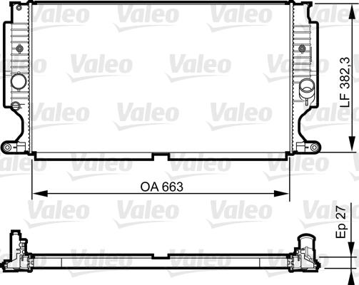 Radiateur, refroidissement du moteur - VALEO - 735188