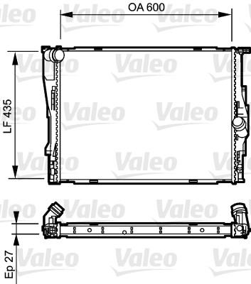 Radiateur, refroidissement du moteur - VALEO - 735194