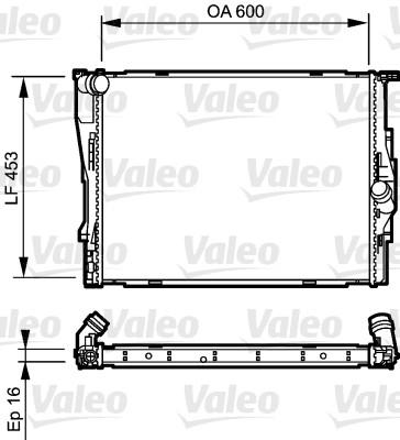 Radiateur, refroidissement du moteur - VALEO - 735195
