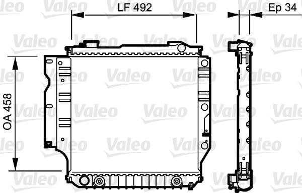 Radiateur, refroidissement du moteur - VALEO - 735196