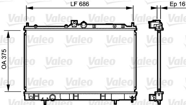Radiateur, refroidissement du moteur - VALEO - 735198
