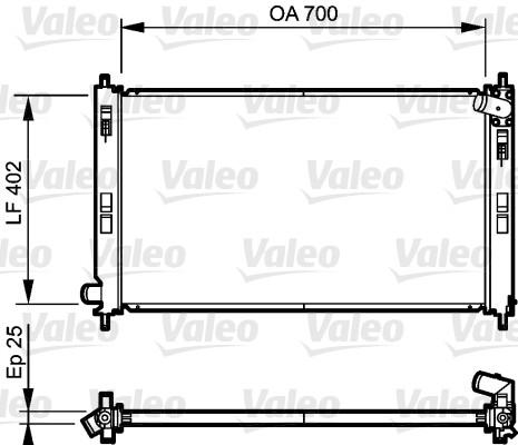 Radiateur, refroidissement du moteur - VALEO - 735200