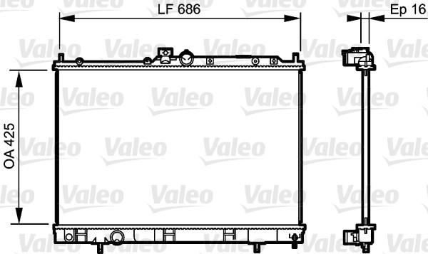 Radiateur, refroidissement du moteur - VALEO - 735201