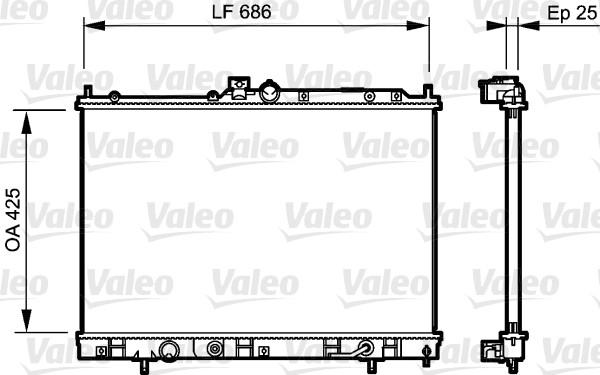 Radiateur, refroidissement du moteur - VALEO - 735202