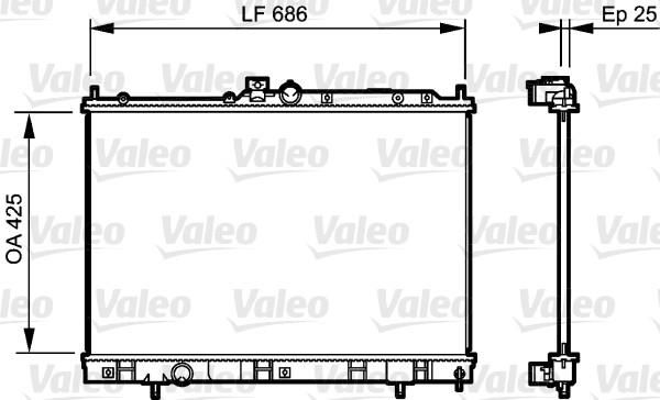 Radiateur, refroidissement du moteur - VALEO - 735203