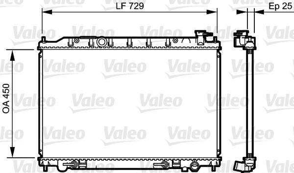 Radiateur, refroidissement du moteur - VALEO - 735204