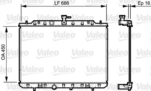 Radiateur, refroidissement du moteur - VALEO - 735205