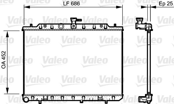 Radiateur, refroidissement du moteur - VALEO - 735206