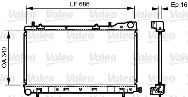 Radiateur, refroidissement du moteur - VALEO - 735208