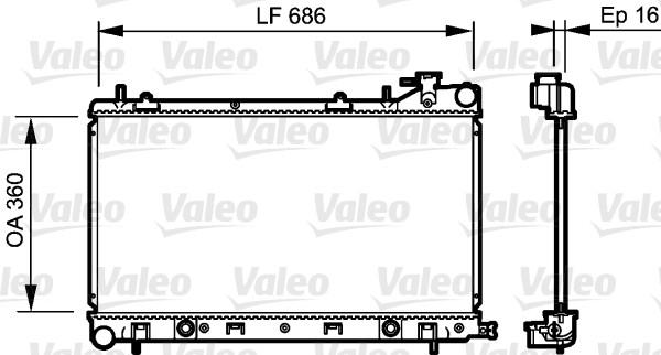 Radiateur, refroidissement du moteur - VALEO - 735209