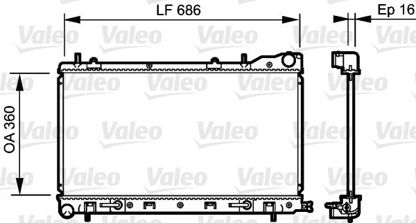 Radiateur, refroidissement du moteur - VALEO - 735210