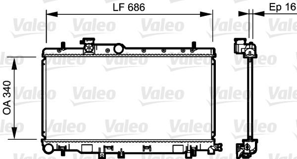 Radiateur, refroidissement du moteur - VALEO - 735211