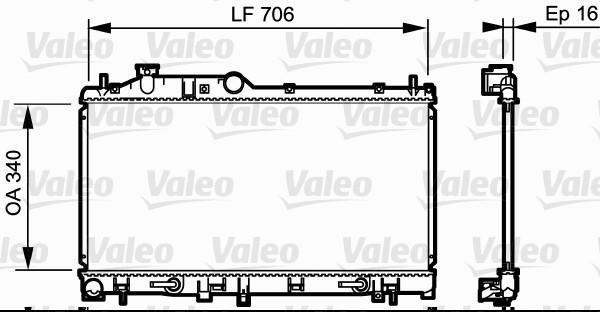 Radiateur, refroidissement du moteur - VALEO - 735212