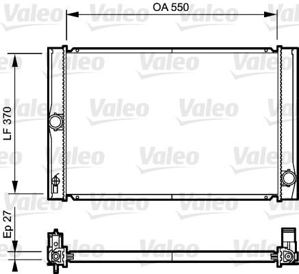 Radiateur, refroidissement du moteur - VALEO - 735213