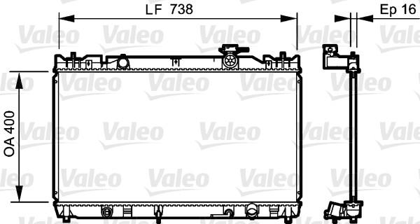 Radiateur, refroidissement du moteur - VALEO - 735214
