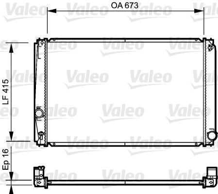 Radiateur, refroidissement du moteur - VALEO - 735215